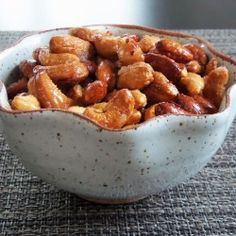 Sweet and Spicy Roasted Nuts...just substitute sugar for stevia