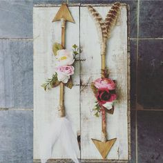 """153 Likes, 21 Comments - Hayley (@goldbohemian) on Instagram: """"Watch this space... I'm excited to say I am bringing back the floral arrows. They will be available…"""""""