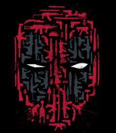 """A Deadpool t-shirt by Fuacka. """"Merc Arsenal"""" shows the masked face of Deadpool made up of various weapons that he would use. Ms Marvel, Marvel Films, Deadpool Tattoo, Deadpool T Shirt, Deadpool Theme, Dc Comics, Punisher, Comic Character, Marvel Cinematic Universe"""