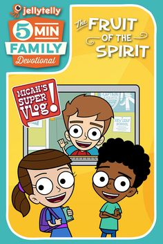 Teach your kids the Fruit of the Spirit with the all new JellyTelly 5 Minute Family Video Devotionals featuring video clips from Micah's Super Vlog.    Each devotional includes clips, discussion guide, life applications, and prayer prompts.  Plus make sure to download the free Activity Pack!