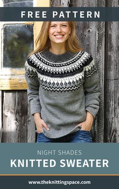 Craft this classic knitted sweater in time for the winter season. This fun knitt. Craft this classic knitted sweater in time for the winter season. This fun knitting project is knitted bottom up with No. Winter Knitting Patterns, Knitting For Kids, Knitting For Beginners, Easy Knitting Projects, Free Knitting Patterns Sweaters, Knit Sweater Patterns, Start Knitting, Knitting Charts, Knitting Ideas