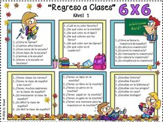 "Back to School ""Regreso a Clases"":  Fun and engaging Spanish Conversation Board Activities for the new school year!"
