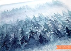 Learning to paint with watercolor: winter forest - Aquarell Malen Winter Forest, Kaiser, Learn To Paint, Christmas Art, Art Tutorials, Mount Everest, Watercolor Paintings, Art Gallery, Lettering