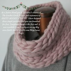 Festive thanks to you good people that are customers and listen/viewers of the podcast. Snugdown Snood is available for free and is perfect for a bit of last minute Christmas cgift crocheting. It only takes an hour or so to make and is so snuggly! Enjoy. Fay x