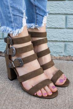Front & Center Heels - Ash