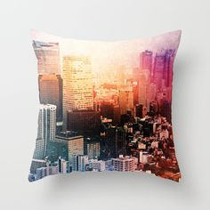 #home #decor #throw #pillow #city #cityscape #colors #art #photography