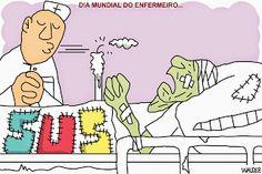 waldez cartuns: dia mundial do enfermeiro