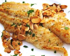 Seafood: Baked Cod With Toasted Almonds