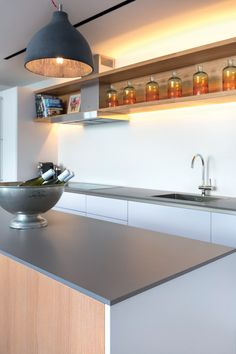 Neolith Cement Silk Countertop Island Sating Fusion Series Kitchen