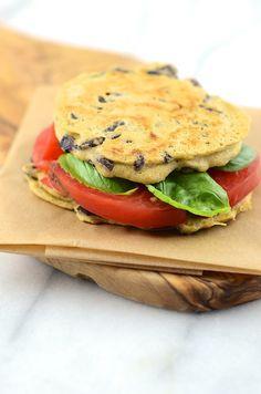 Gluten Free Flatbread Sandwich!! #vegan