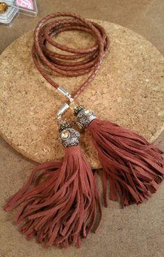 crystal and leather tassels. @katiehacker @DTCreations @leathercordusa #BBJTV
