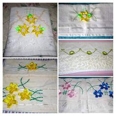Napkins, Satin Flowers, Handmade Crafts, Towels, Dinner Napkins