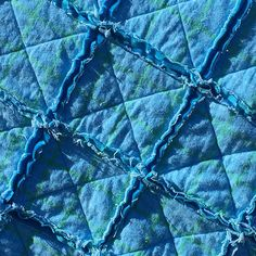 Blue Baby Blanket Blue Baby Quilt Baby Rag Quilt Baby Quilt