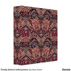 Trendy abstract tribal pattern. 3 ring binder  Trendy abstract tribal pattern. For home design and decor. Beautiful home accessories ideas. Luxury elegant style.