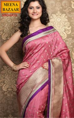 Embroidery Saree on Raw Tussar Fabric