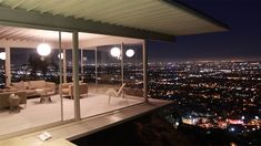 """""""The Stahl House"""": Just west of Laurel Canyon in the Hollywood Hills lies a modernist icon: Case Study House #22, sponsored by Arts & Architecture Magazine in 1959. The home became famous when Julius Shulman photographed it in 1960, capturing 2 women lounging at night with the L.A. city lights in the distance. Now called """"the most iconic image of Los Angeles"""", Shulman's photo, and the home along with it, helped cement Los Angeles' place as a hub of modern architecture. 