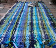 Handwoven Recycled T-Shirt Rag Rug