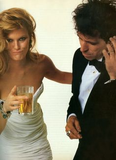 Patti Hansen and Keith Richards on their wedding in 1983.  They've been together ever since.  It must be love!!