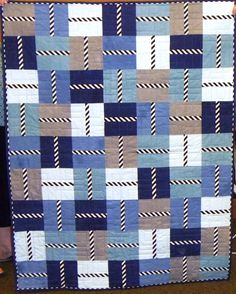"""A great """"guy"""" quilt design, by Pam McKeen."""