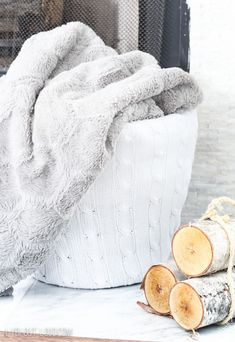 Repurposed Sweater Basket