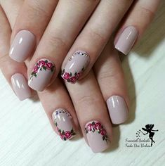 healthy snacks for preschoolers to take to school kids videos kids Rose Nail Art, Rose Nails, Flower Nails, Hair And Nails, My Nails, Gel Nail Designs, Simple Nails, Nail Arts, Spring Nails