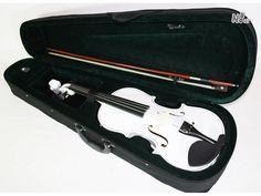 Set vioara clasica din lemn, design special, culoare ALB Marca : Cherrystone Cod produs : 0960  Marime : 4/4 aprox 60 cm lungime Stare