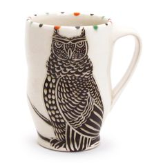 Owl Espresso Cup  Artist: Sue Tirrell