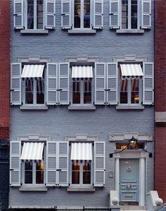 An exterior shot of Miles Redd's Manhattan townhouse.