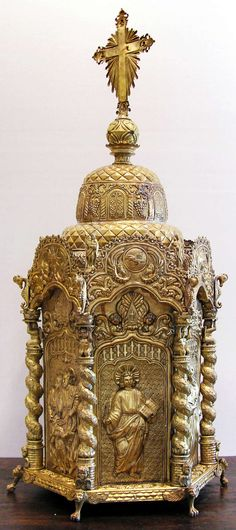 Bolivian Sagrario (Church Tabernacle) | From a unique collection of antique and modern religious items at https://www.1stdibs.com/furniture/more-furniture-collectibles/religious-items/