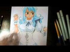 Speed Drawing Juvia Lockser - FAIRY TAIL  With FINECOLOR