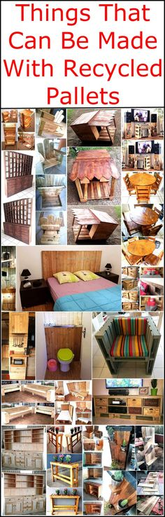 Do you want to decor your dull area with excellent and creative collections? Re-transformed wood pallets will take a good turn to embellish your area with wonderful creations. We are going to provide you smashing collections of crafts that are made from reused wood pallets. Things that can be made with recycled wood pallets give grace and charm to your place with their stunning look.