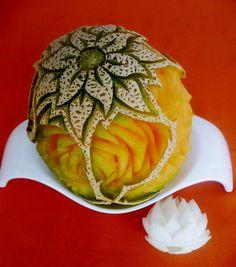 Image detail for -THOT KINJI: Nuevas imágenes de fruit carving en melón, por Lic. en G ...
