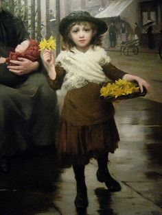 The Pinch of Poverty by Thomas Benjamin Kennington 1891 (detail)