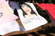 Shirts shared statistics and resources for those affected by domestic violence