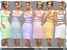 Troiann Dress by Devilicious at TSR via Sims 4 Updates