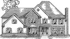 Eplans European House Plan - Three Bedroom European - 3440 Square Feet and 4 Bedrooms from Eplans - House Plan Code HWEPL70248