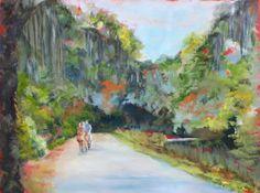 18x24 Oil on Gallery Wrap - Quiet Ride