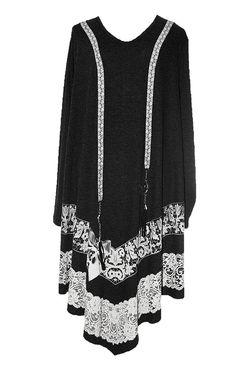 AKH Fashion Lagenlook Shirt Kleid XL mit Spitze festlich bei http://lafeo.de/shopping/modeolymp/