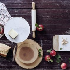 Marble & Wood Cheese Board in House+Home COLLECTIONS Baker's Pantry at Terrain #Anthropologie #PinToWin