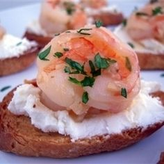 Toasted Bread With Shrimp, Garlic And Chili Pepper