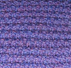 Loom knitting Granite Stitch instructions, I'm a fan of this page.