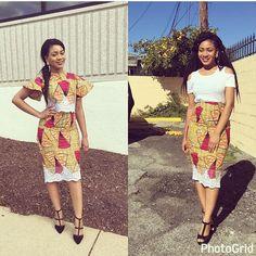 Online Hub For Fashion Beauty And Health: Stylishly Classy Ankara Midi Skirt And Blouse For . African Men Fashion, Africa Fashion, African Women, Ankara Rock, Pencil Skirt Tutorial, Ankara Stil, Become A Fashion Designer, African Dress, African Wear