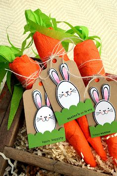 crepe paper carrots - treat bundle tutorial - by Jessica