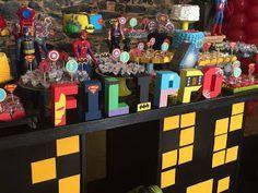 Balão de Papel: Festa Heróis e Vilões