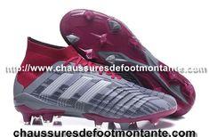 Chaussure de foot adidas Predator Mania OG FG Rouge argenté