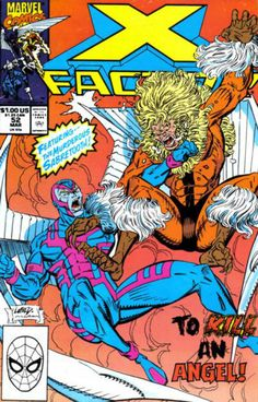 X-FACTOR # 52 (Vol I) 1990. MARVEL COMICS. WRITER: Louise Simonson. ARTIST: Rob Liefeld. COVER PRICE: $1.00. CHARACTERS: Sabretooth, Archangel (Angel). NOW PRICE: $3.00. CONDITION: Near Mint.