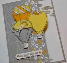 Stamp with Susie: 'Above the Clouds' Sneak peek! Helium Balloons, Air Balloon, Scrapbooking, Scrapbook Pages, Stampin Up Cards, Cricut Cards, How Lucky Am I, Above The Clouds, Paper Cards