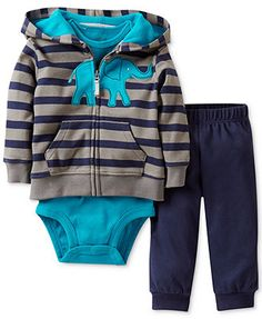 Carter's Baby Set, Baby Boys 3-Piece Cardigan, Bodysuit and Pants