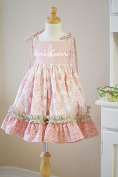 easter dress sewing inspiration | Such a cute dress by Kinderkouture.