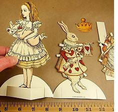 Alice in Wonderland Paper Doll Set